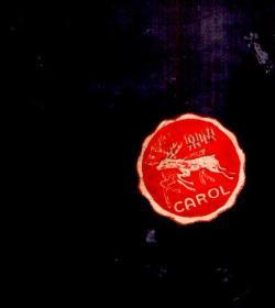 民国小标签;圆形直径2cm。图案 梅花鹿、快乐
