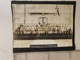 来自侵华日军联队相册,此为其中1张,民国照片,有昭和18年1943年,辽宁省旅顺中学校字样,尺幅较大