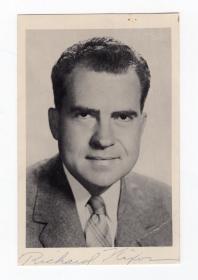 中国人民的老朋友 美国总统 尼克松 Richard Nixon 亲笔签名照