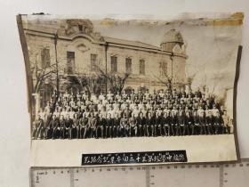 来自侵华日军联队相册,此为其中1张,民国照片,有昭和19年1944年旅顺中学校字样,尺幅较大,辽宁省旅顺