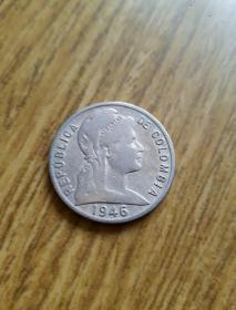 1946年 哥倫比亞自由女神像5分 品佳