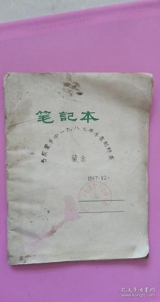 1987年12月筆記本:【河北保定定興縣】韋家營鄉中1987年冬季越野賽留念 5品