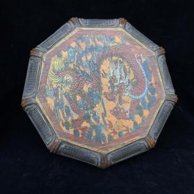 漆器龍紋八角盒