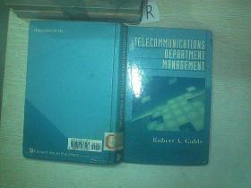 Telecommunications Department Management (Artech House Telecommunications Library)    04