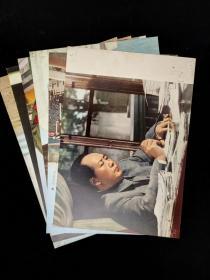著名书法家、翻译家、原民盟中央主席 楚图南旧藏:  毛主席画片六张 (两张背面有钤印:楚图南) HXTX317437