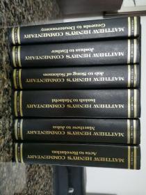 《Matthew Henry's Commentary on the whole Bible》美国原版Mac Donald出版 全5册 私藏干净大开本巨厚6千多页 装帧紧密 内容海量 唯识者知之