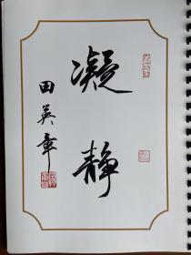国手级书法家田英章老师平尺行书作品