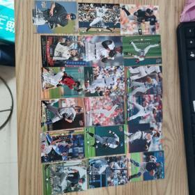 美国棒球卡18张合售