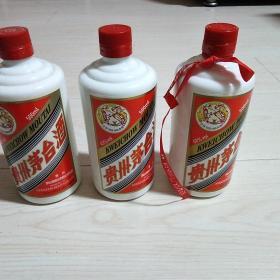 三个茅台空酒瓶
