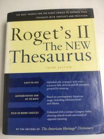 Houghton Mifflin Roget's II: The New Thesaurus, Thirrd Edition 新同义词库 第三版 精装英文版