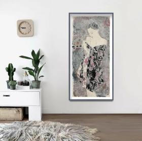 当代著名画家林能超老师展览原作精品,有合影