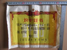 云南杞麓县1958年《识字证书》