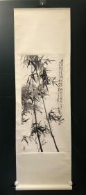 日本回流字画 原装旧裱  590    韦艺和  墨竹