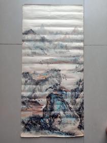 七十年代末山水画,佚名。