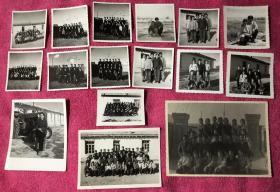 70年代 新疆维吾尔自治区哈密地区巴里坤哈萨克自治县兵团农十三师 红山中学 旧藏老照片16枚