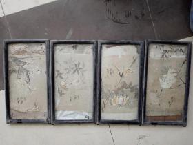 晚清民国佚名四条屏尺寸28*17厘米,镜框为榉木,包老,品相如图,明价200不包邮,喜欢的[勾引][勾引][勾引]