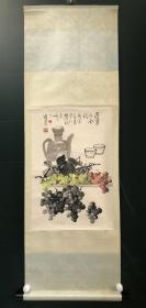 日本回流字画 原装旧裱  592  邓维东   边塞话金秋