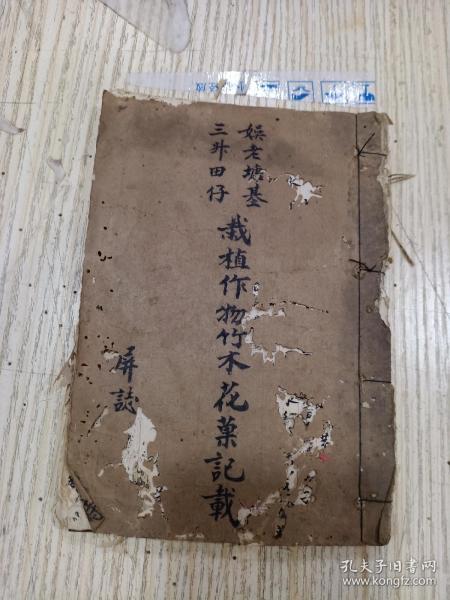 手抄本,娱老塘基  栽植作物竹木花草记载(85面)
