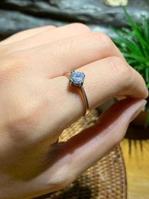 前苏联,古董首饰,925纯银镶嵌宝石戒指