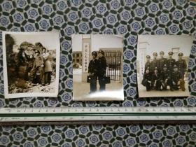八十年代中国人民公安大学学员合影老照片三张,品好包快递。