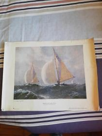 1962年苏联原版油画波罗的海第七届赛船会长69.5宽52厘米【苏联胡多出版社】