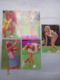 高尔夫球 明信片:共5张