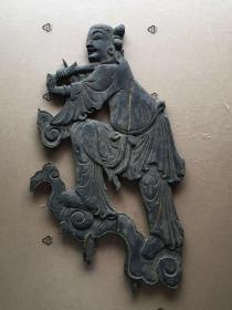 《特價》精工,清代木雕人物《殘韻》