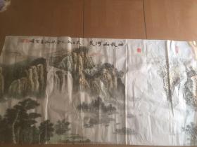 著名画家 中国人民革命军事博物馆研究馆员、博物馆陈列设计资深专家:杨谷昌(山水作品)136*70