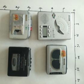 爱华单放机三个,步步高复读机一个,都是坏的,都没有电源 售出不退