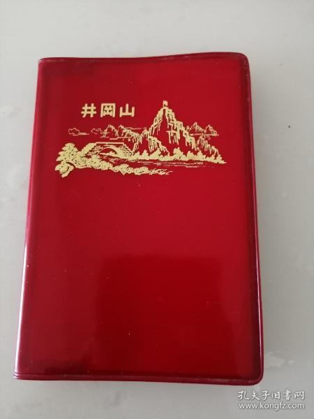 文革紅塑料皮日記本《井岡山》(扉頁有字跡)陽臺西書柜第七層