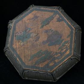 漆器嬰戲圖八角盒