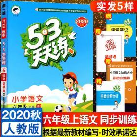 2020秋新版53天天练六年级上册语文人教部编版RJ小学6六年级语文