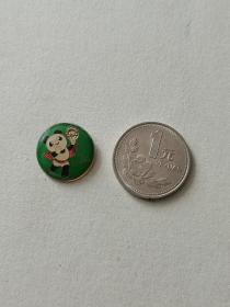 早期纪念章胸牌--熊猫徽章 制作精美