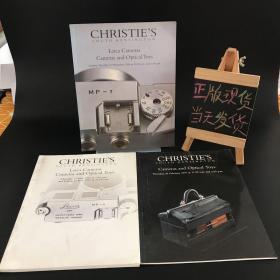 Christie's:Leica Cameras Cameras and Optical Toys 1996(徕卡相机和光学玩具1996年)+Christie's:Leica Cameras Cameras and Optical Toys 1997(徕卡相机和光学玩具1997年)Christie's:Cameras and Optical Toys 1997(相机和光学玩具1997)(3本合售)