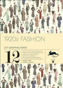 【预售】1920s Fashion: Gift Wrapping Paper Book Vol.10