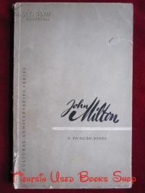 John Milton: A note on his life times and work with an anthology(英语原版 平装本)约翰·弥尔顿:关于其生平及著作的注释附以一本选集