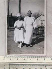 民国抗战时期天津军病院的女护士和日本鬼子伤兵老照片