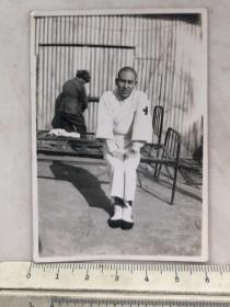 民国抗战时期天津军病院的日本鬼子伤兵老照片