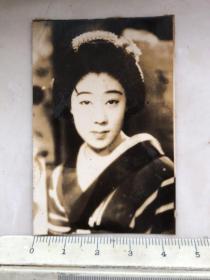 民国时期日本女影星山田五十铃原名山田美津老照片