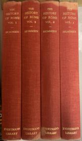 蒙森   罗马史 (全四卷)布面装订   老版书     1911年首版 1930年重印  薄纸印刷      书中有大量注释   四册全带护封  护封有破损