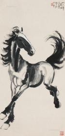 1079  徐悲鴻  奔馬圖  紙本印刷圖片