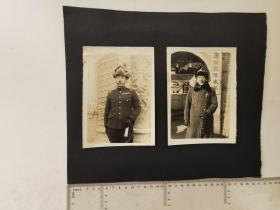 来自侵华日军联队相册,此为其中2张,民国照片,有奥田部队本部字样,是否是大佐联队长
