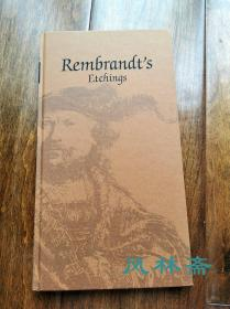 伦勃朗之版画 Rembrandt's Etchings 16开156作品日文版 日本荷兰交往400年纪念大展