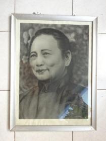 宋庆龄肖像画(炭画像)保真早期手工绘画老画像3