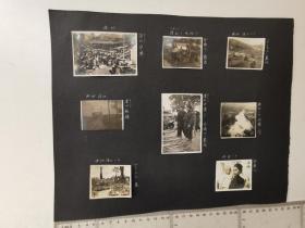 来自侵华日军联队在广西省相册,此为其中1页正反面贴照片16张,民国照片,有谅山,安南字样