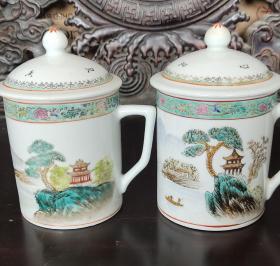 一对567瓷器茶杯,议价。