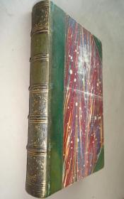 1848年- Sir Walter Scott - Rob Roy 司各特名著《红酋罗伯》3/4真皮古董书 珍贵的早期版本 钢板画扉页插图 增补插图