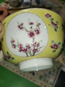 四季花茶碗