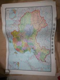 中华人民共和国地图(2开)