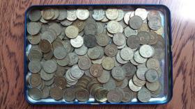 梅花普通年份5角(伍角)五角共155枚混合销售 【另送47枚铝制菊花一角(壹角)硬币】